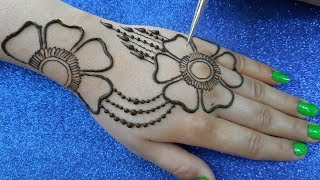 Download Beautiful Flower Mehndi design for hands | New Mehndi design back hand Video