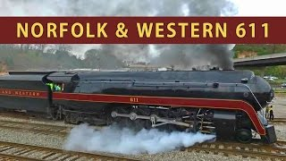 Download Norfolk & Western 611: Slipping in Asheville Video