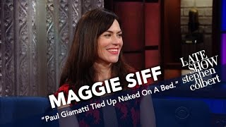 Download Maggie Siff Talks About Getting Naughty With Paul Giamatti Video