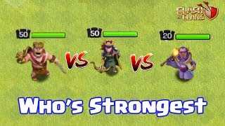 Download BARBARIAN KING VS ARCHER QUEEN VS GRAND WARDEN | WHO's STRONGEST | CLASH OF CLANS | Video