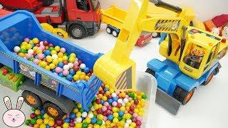 Download Kids toys   Excavator Pororo Dump Truck Cement Mixer Crane Truck Garbage Truck for kids   YapiTV Toy Video