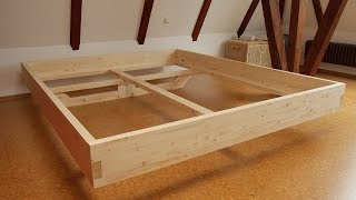 Download DIY Massivholz-Bett selber bauen Video