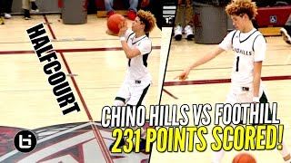 Download Chino Hills CRAZY SHOW Continues! FULL Highlights! LaMelo Ball Halfcourt Shot! LiAngelo SCORES 65! Video