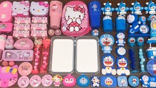 Download Special Series #36 BLUE DOREAMON and PINK HELLO KITTY !! Mixing Random Things into GLOSSY Slime Video