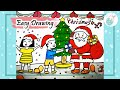 Download Easy Christmas festival drawing- Kids Receiving Gifts From Santa Claus drawing for kids Video