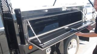 Download Black Beauty Crew Cab with 10' Scelzi Contractor Body Video
