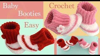 Download Como tejer a crochet Zapatitos para bebes niñas niños tejido tallermanualperu Video