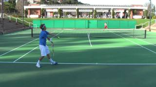 Download Jan 15, 2011 Denis Lin vs Clay Thompson men's college tennis singles Video