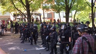 Download RIOT: Portland Police Disperse ANTIFA w/ Flash Bangs Video