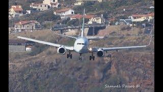 Download INCREDIBLE crosswind landings || A330 B757 A321 || Bumpy Approach || Go Around || Madeira Video