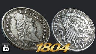 Download united states of america silver coin 1804 | 4K Video