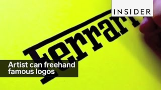 Download This artist can freehand famous logos with stunning accuracy Video