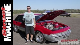 Download Crazy Powerskids with 1000hp Ford-powered Holden Calais Video