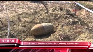 Download GELİBOLU YARIMADASI'NDA PATLAMAMIŞ TOP MERMİSİ Video
