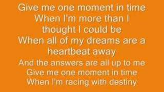 Download Whitney Houston- one moment in time lyrics Video