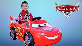 Download Unboxing Disney Cars Lightning McQueen Battery-Powered Ride On Car 12V Test Drive Ckn Toys Video