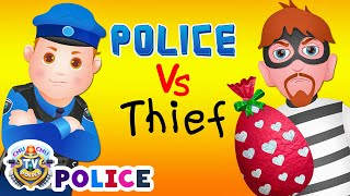 Download ChuChu TV Police Chase Thief in Police Car Save Huge Birthday Egg Surprise Toys Gifts for Twin Kids Video