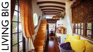 Download Amazing DIY European Style Tiny House With Pizza Oven Video