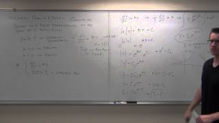 Download Calculus 2 Lecture 8.1: Solving First Order Differential Equations By Separation of Variables Video