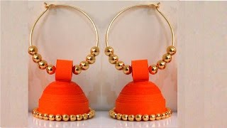 Download How to make Paper Earrings Jhumka | Paper Quilling Tutorial Video