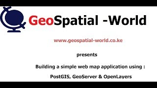 Download Building a simple web mapping application using PostGIS, GeoServer & OpenLayers Video