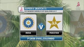 Download India v Pakistan, ICC Women's World Cup Qualifier, 2017 Video