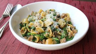 "Download ""One Pan"" Orecchiette Pasta with Sausage and Arugula - How to Cook Pasta & Sauce in One Pan Video"