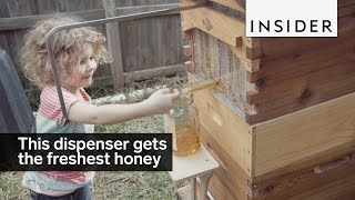 Download This dispenser allows you to get the freshest honey Video