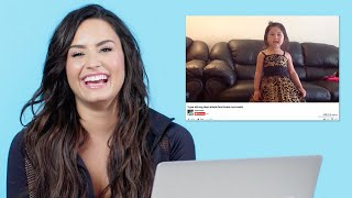 Download Demi Lovato Watches Fan Covers On YouTube | Glamour Video