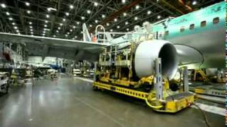 Download Manufacturing of Boeing Aeroplane in Factory Video
