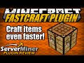 Download How to craft items faster in Minecraft with FASTCRAFT Plugin Video