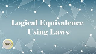 Download Prove Logical Equivalence Using Laws Video
