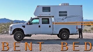 Download TRUCK CAMPER LOADING FAIL - Ford F250 Super Duty Bed BENDS with Slide In Camper Video