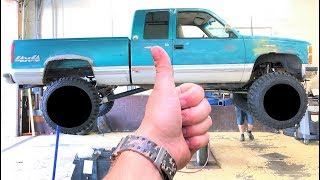 Download HUGE WHEELS AND TIRES FOR MY $1,200 CHEVY!!! (Looks Like a MONSTER TRUCK!) + JEEP WRAP IS DONE... Video
