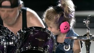 Download A little girl on stage with Metallica - Seek & Destroy Live at Comerica Park in Detroit, 7 12 17 Video