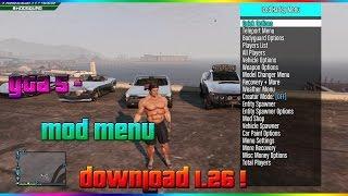 Download GTA 5 - MOD MENU DOWNLOAD 1.26 /1.27 ! Video