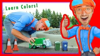 Download Learn Colors for Toddlers with Blippi Toys | Garbage Truck Toy Video