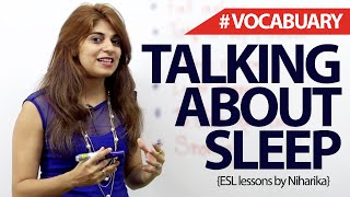 Download English Phrases to talk about Sleep – Free Spoken English lesson Video