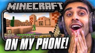 Download MINECRAFT on my PHONE! Video