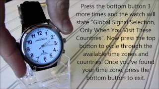 Download Men's Atomic Talking Watch Video