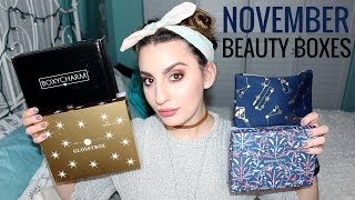 Download November Beauty Box Unboxing (Birchbox, Ipsy, Boxycharm, & Glossybox) Video