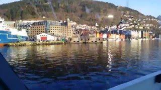 Download Arriving in the city of Bergen, Norway 4k Video
