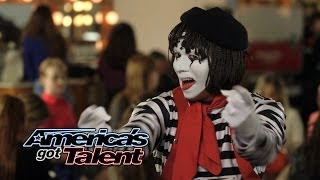 Download Larry The Mime: Nick Cannon Pulls Prank On Judges - America's Got Talent 2014 (Highlight) Video
