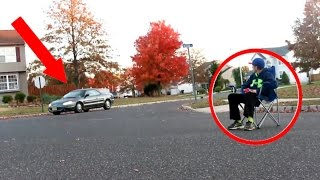Download SITTING IN THE MIDDLE OF THE ROAD PRANK ON STRANGERS! *WE HAD A AIRHORN* Video