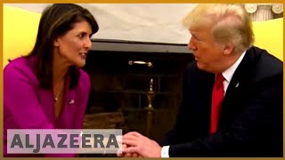 Download 🇺🇸 Nikki Haley resigns as US ambassador to United Nations | Al Jazeera English Video