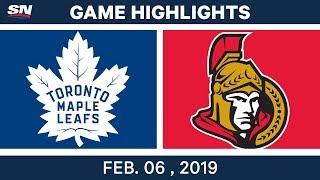 Download NHL Highlights | Senators vs. Maple Leafs - Feb. 6, 2019 Video