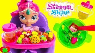 Download Best Toy Food Learning Video With Baby Shimmer's High Chair Shimmer and Shine Video