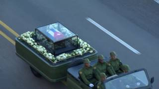 Download Fidel Castro's ashes leave Havana Video
