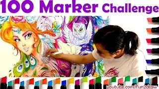 Download Art Challenge: Color with 100 Markers! | Mei Yu - Fun2draw Video