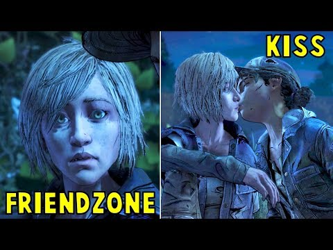 Clem Friendzone vs Kiss Violet ROMANCE -All Choices- The Walking Dead The Final Season Episode 2